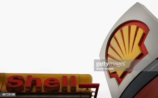 Royal Dutch Shell petrol station is seen in Battersea on February 2 2006 in London England Royal Dutch Shell's released record annual profits for a...