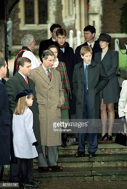 Royal Family Attending Christmas Day Service At Sandringham Church Prince Charles Prince Harry Prince William Princess Anne Prince Andrew Zara...