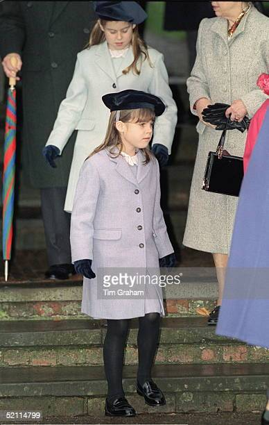 Royal Family Attending Christmas Day Service At Sandringham Church Princess Eugenie And Princess Beatrice