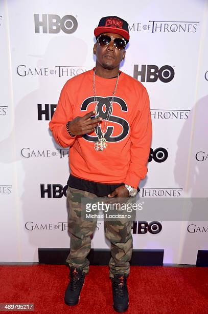 Royal Flush member Ricky Walker arrives at the HBO Game of Thrones Catch the Throne NBA AllStar Event at Republic on February 16 2014 in New Orleans...