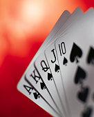 Royal Flush of Spades Card Hand