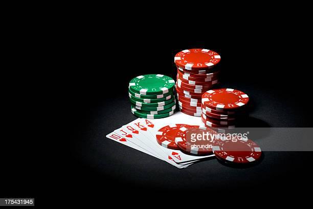 A Royal Flush provides a winning poker hand