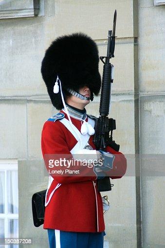 Royal guard at Amalienborg Slot.