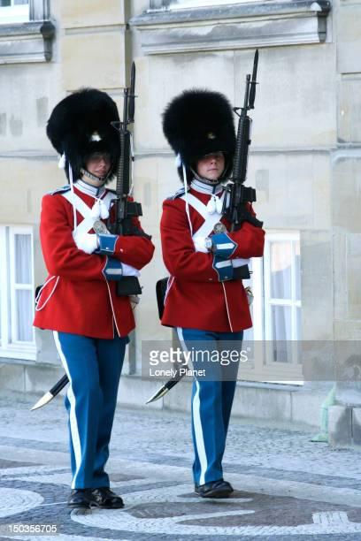 Royal guards at Amalienborg Slot.