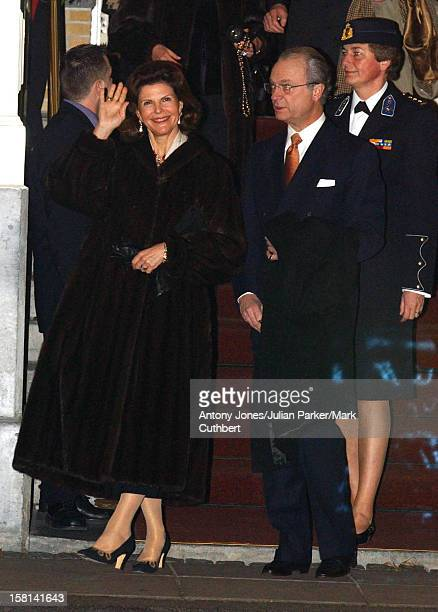 Royal Guests Leave Their Hotel Head Off For An Evening Of Celebration At The Amsterdam Arena The Day Before The Wedding Of Crown Prince...