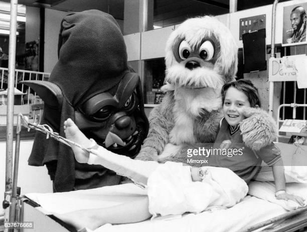 Royal Hospital for Sick Children Yorkhill Glasgow Scotland 4th December 1983 Goodies must stick together That is why Walt Disney cartoon hero Gurgi...
