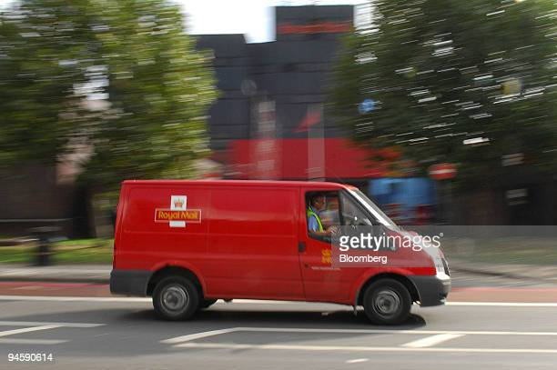 Royal Mail delivery van passes the Nine Elms sorting office in London UK on Monday Oct 15 2007 UK postal workers extended wildcat strikes as...