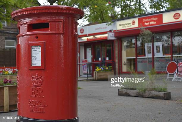 A Royal Mail post box standing outside a Post Office in Chorlton Manchester on Tuesday 19th May 2015 The United Kingdom Government has announced that...