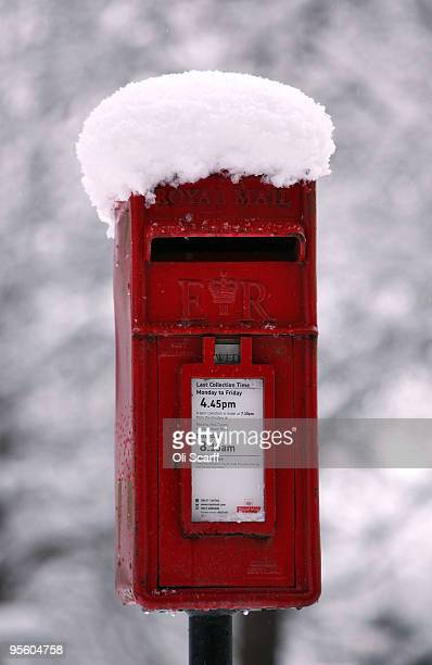 Royal Mail postbox is covered with snow on January 6 2010 in HenleyonThames England The MET Office has put in place severe weather warnings for much...