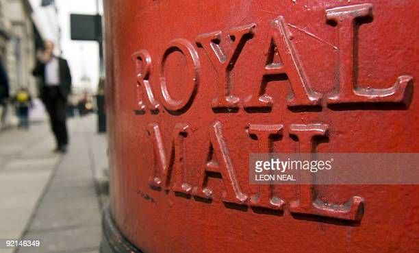 A Royal Mail postbox is pictured in central London on October 21 2009 A last ditch attempt to avoid the planned 24hour strikes by postal workers will...