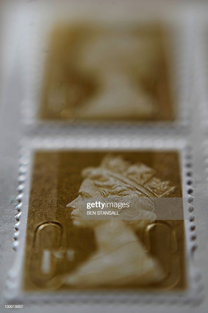 Royal Mail stamps are seen pictured, in London on May 20, 2010. Britain's new coalition government said on Thursday that it was relaunching plans to part-privatise Royal Mail, which had been ditched by the former Labour administration last year. In an updated policy document, the Conservative-Liberal Democrat coalition led by Prime Minister David Cameron said it would seek 'an injection of private capital' into state-run Royal Mail.