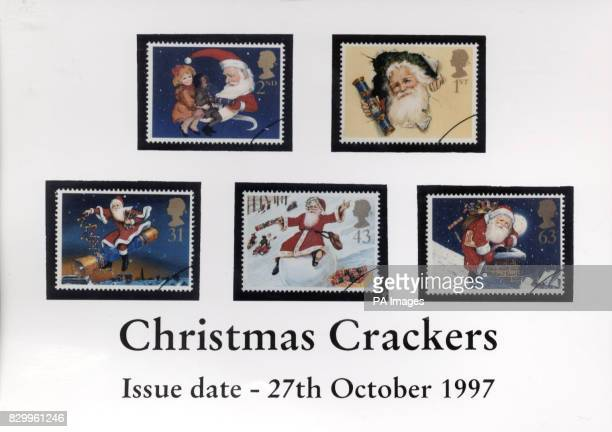 Royal Mail's annual Christmas stamp issue celebrates the traditional cracker which has it's 150th birthday this year The set of five stamps is...