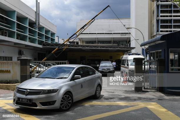 A Royal Malaysian police vehicle leaves the forensics wing of the Hospital Kuala Lumpur where the body of Kim JongNam halfbrother of North Korea's...