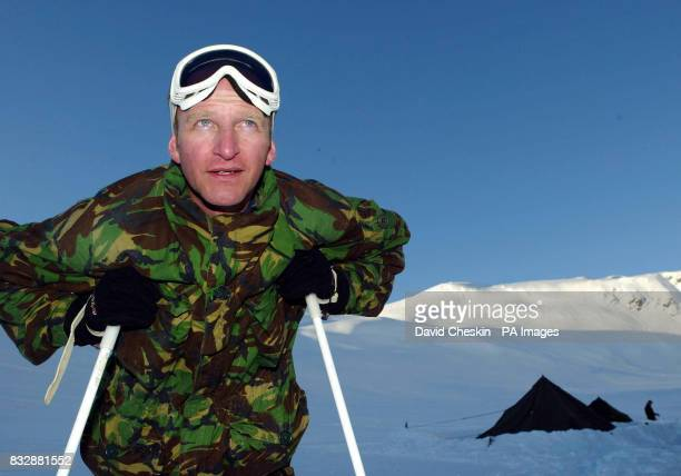 Royal Marine Reserve Commando Captain Cormac Hamilton from Glasgow who along with other RMRs from around the UK in Vinje Southern Norway as they...