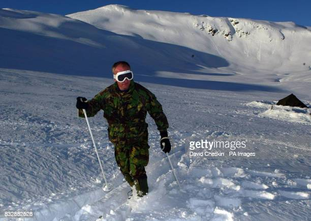 Royal Marine Reserve Commando Captain Cormac Hamiltonfrom Glasgow who along with other RMRs from around the UK in Vinje Southern Norway as they...