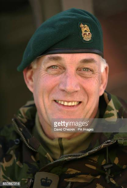Royal Marine Reserve Commando Colonel Frank Mirtle who along with other RMRs from around the UK in Vinje Southern Norway as they undergo some of the...