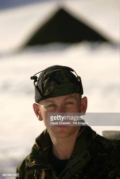Royal Marine Reserve Commando Lance Corporal Julian 'Coxy' Cocks who is a builder from Bristol who along with other RMRs from around the UK in Vinje...
