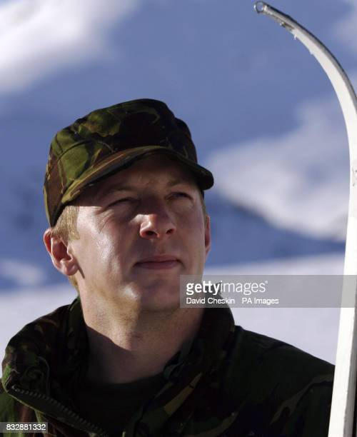 Royal Marine Reserve Commando Lance Corporal Lee Grant Morpeth who along with other RMRs from around the UK in Vinje Southern Norway as they undergo...