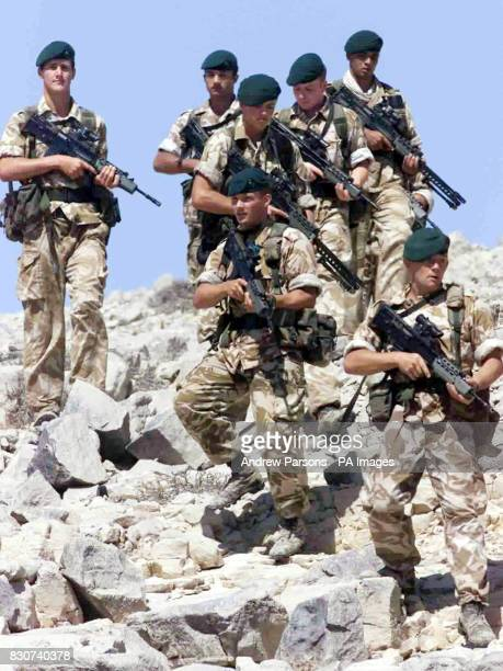 Royal Marines from 40 Commando hit the beach during an amphibious demonstration in Oman Two hundred men from 40 Commando part of 3 Commando Brigade...