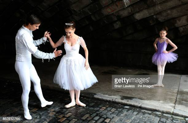Royal Moscow Ballet dancers Ekateryna Floria who plays Cinderalla and Vadim Lolenko who plays Prince Charming in Clanwilliam Terrace Duiblin watched...