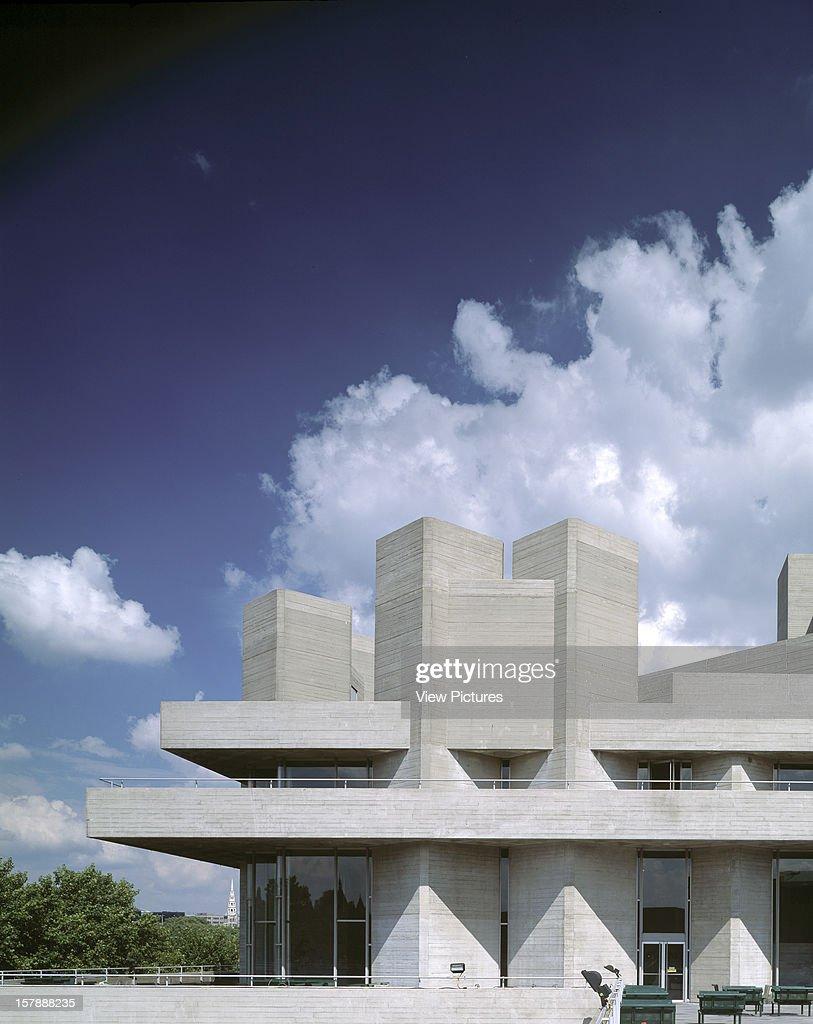 Royal National Theatre, London, United Kingdom, Architect Denys Lasdun, 1975, Royal National Theatre Exterior.