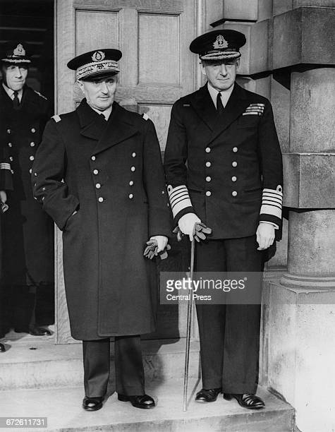 Royal Navy Admiral of the Fleet Sir Alfred Dudley Pound Chief of Naval Staff meets with Admiral of the Fleet and commander in chief of the French...