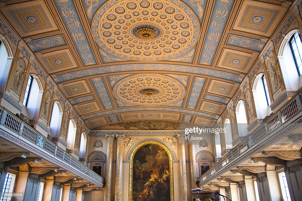 Royal navy chapel interior. London : Stock Photo