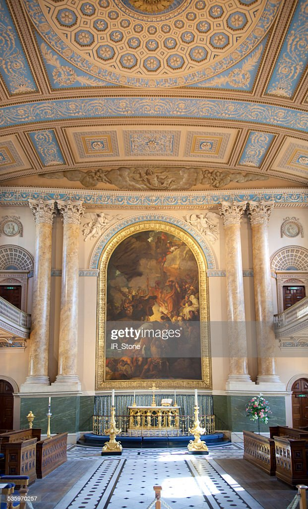 Royal navy chapel interior. London : Stock Photo