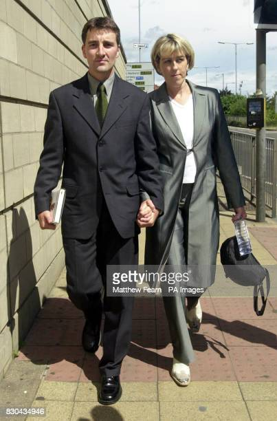 Royal Navy officer John Brotherton and his wife Sue leaving Northampton Crown Court after he was cleared of the manslaughter of a colleague who died...