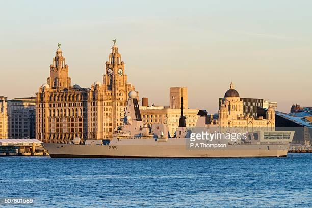 Royal Navy war ship, HMS Dragon, Liverpool
