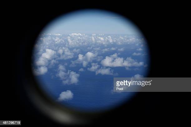 Royal New Zealand Air Force P3K2 Orion aircraft searches for missing Malaysian Airlines flight MH370 on March 29 2014 over the southern Indian Ocean...