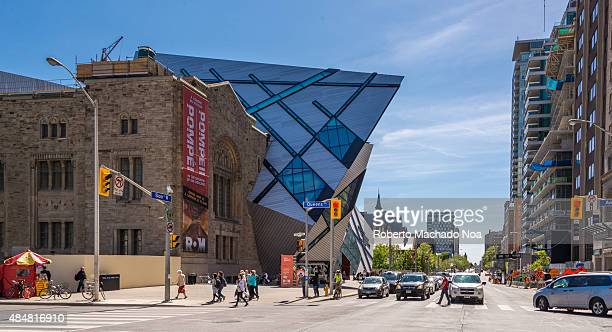 MUSEUM TORONTO ONTARIO CANADA Royal Ontario Museum is one of the largest in North America The front facade is called The Crystal and was designed by...