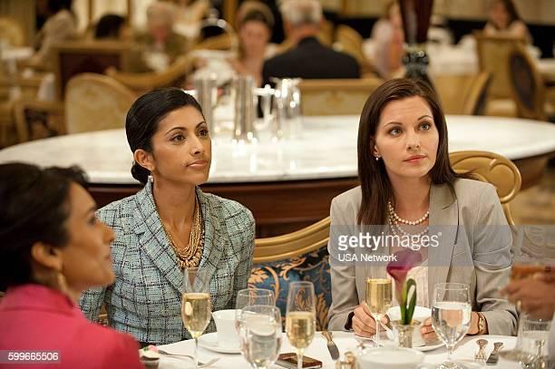 Royal Pains 'Hankover' Episode 2008 Pictured Reshma Shetty as Divya Jill Flint as Jill Casey