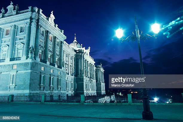 Royal Palace at Night in Madrid