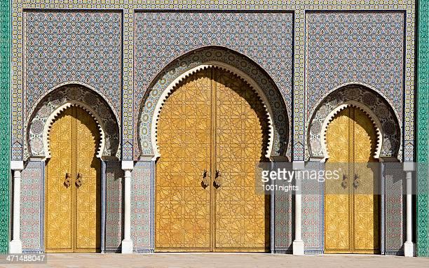 Portes principales du palais Royal de Fez Maroc