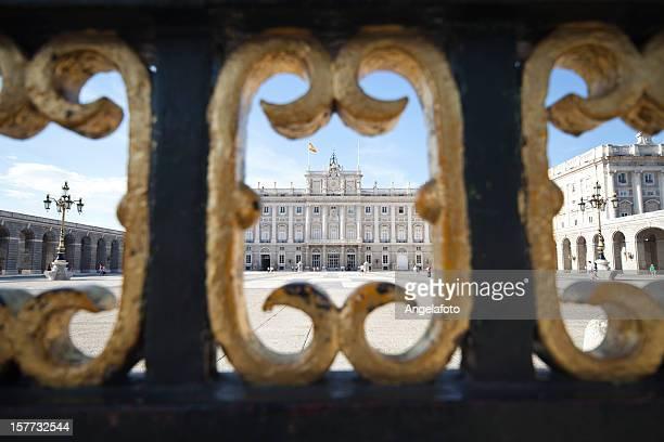 Palacio real de Madrid desde la entrada