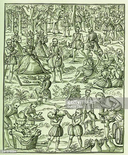 A Royal Picnic Queen Elizabeth with her courtiers 7th of September 1533 24th of March 1603 Reigned from 17th November 1558 Queen of England Food...