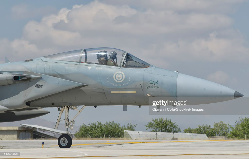 Royal Saudi Air Force F-15 during Exercise Anatolian Eagle at Albacete Air Base, Spain.