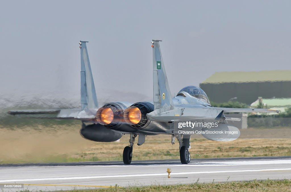 A Royal Saudi Air Force F-15 during Exercise Anatolian Eagle at Albacete Air Base, Spain.