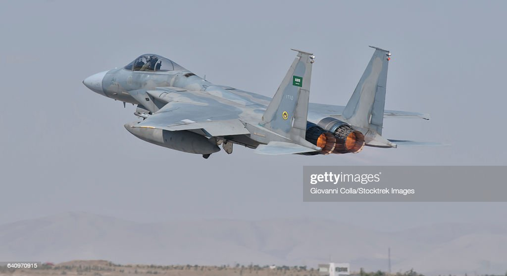 A Royal Saudi Air Force F-15 during Exercise Anatolian Eagle in Spain.