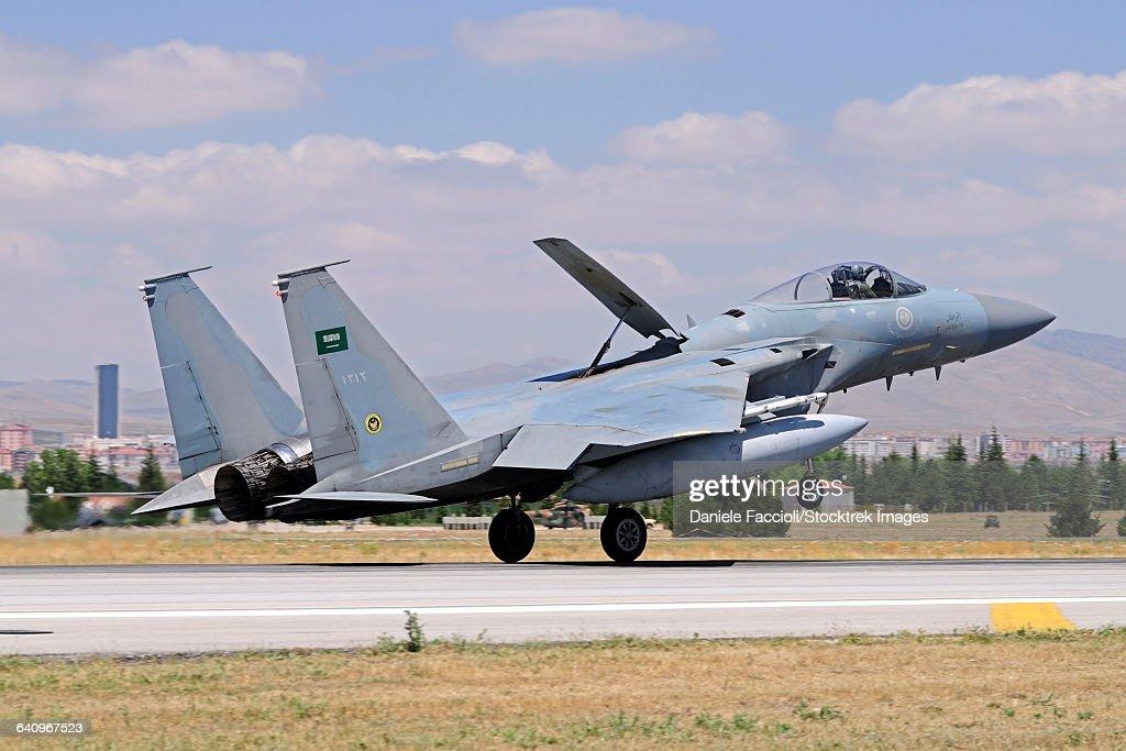 A Royal Saudi Air Force F-15C Eagle during Exercise Anatolian Eagle.