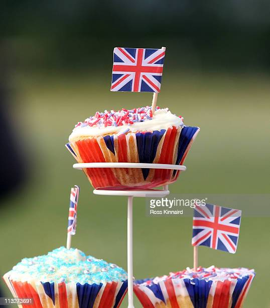 ' Royal' Style cup cakes were the centre peice of the table at a street party at at the village hall South Kilworth on April 29 2011 in...