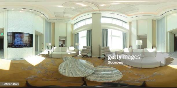 A Royal Suite Room is seen at the Hotel Lotte Co hotel inside the Lotte Corp World Tower building in Seoul South Korea on Thursday March 16 2017...