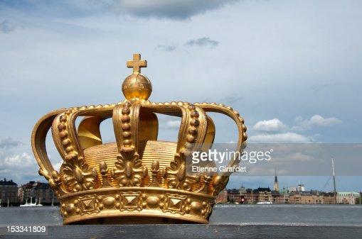 Royal Swedish crown on Skeppsholmen Bridge