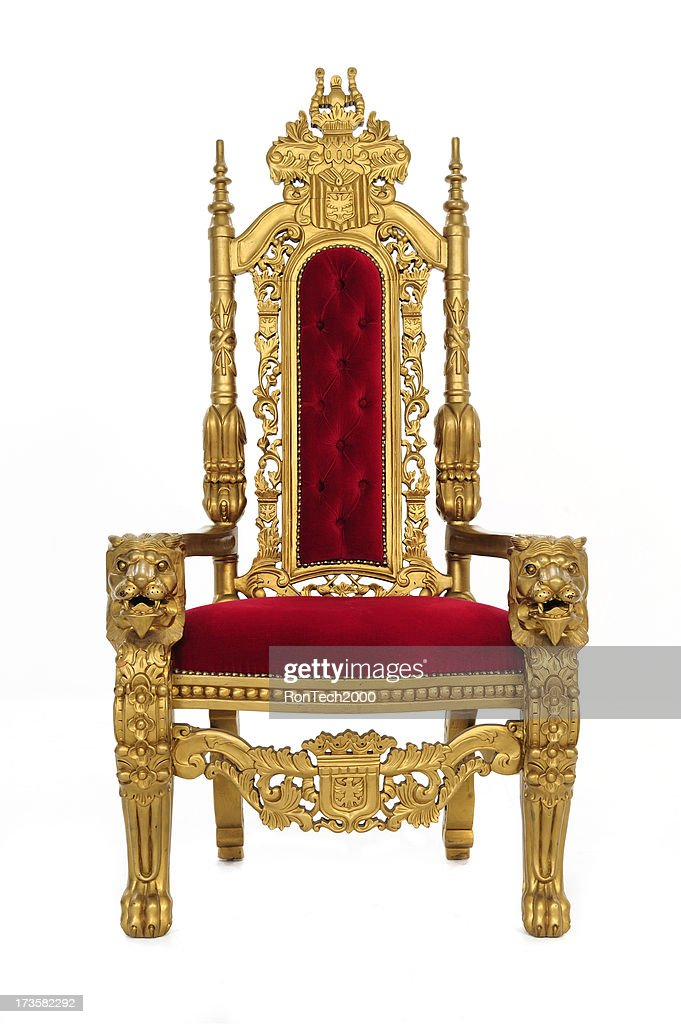 Royal Throne with Clipping Path