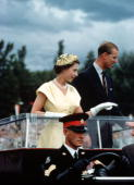 Royal Tour of Australia Queen Elizabeth II and Prince Philip the Duke of Edinburgh are pictured in Canberra during their tour