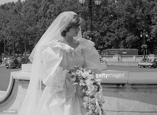 TODAY Royal Wedding Aired 7/29/81 Pictured Lady Diana Spencer look alike modeling a wedding dress similar to that actually worn at the Royal Wedding...