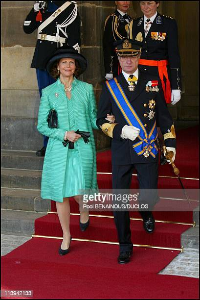 Royal Wedding of the Prince WillemAlexander with Maxima Zorreguieta In Amsterdam Netherlands On February 02 2002Queen Silvia and King CarlGustav of...