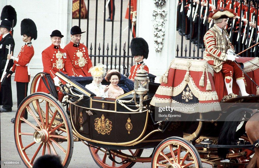 Royal Wedding. Photo of Princess Anne and Princess Margaret taken by Boris Spremo July 29, 1981.
