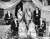 Royals attending a gala performance of 'A Midsummer Night's Dream' in honor of the Greek Royal Family unknown Princess Marina Princess Royal and...